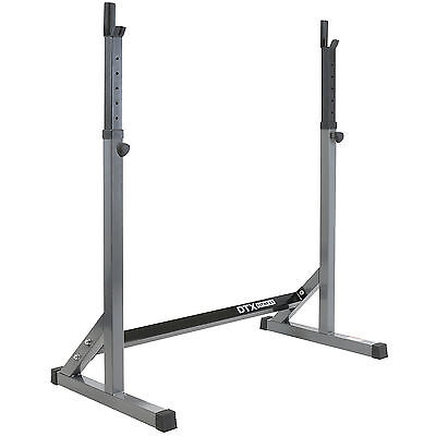 DTX Fitness Adjustable Squat Rack Power Lifting Bar Stand Weight Squatting Cage