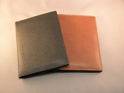Extremly nice quality Leather Passport wallet - Calf Antique Brown or Black