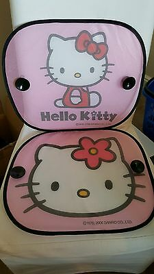 Hello Kitty BUY ONE GET ONE FREE!! Car Window Protection Sun Blind Shades 2 Pk