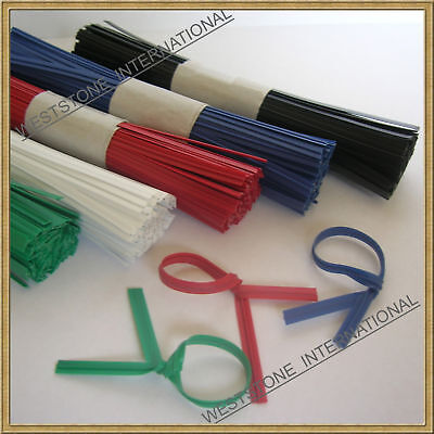 """100 plastic 5"""" twist tie for GENERAL USE"""