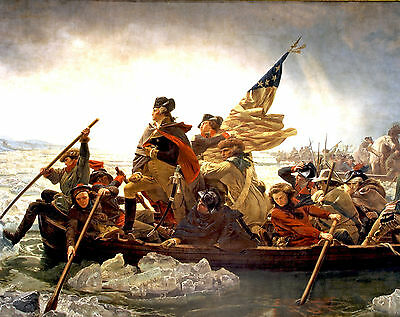 "Two Fine Art Prints George Washington Crossing the Delaware Valley Forge 8""x10"""