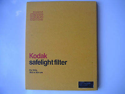 "New old stock Kodak GBX # 1112606  Safelight Filter - 10"" x 8"""