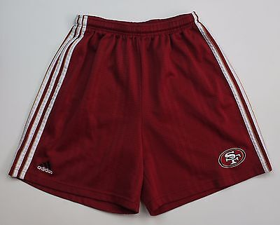 Boy's Shorts Size Large Adidas SF Red White Gold Stripes Burgundy Athletic Track