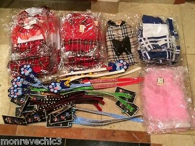 New Wholesale Lot Pet Clothes And Collars *60 Pieces*