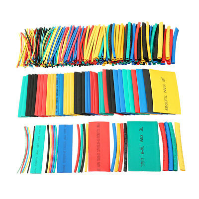 410Pcs 2:1 Heat Shrink Tubing Tube Sleeving Wire Cable 5 Color 10 Sizes