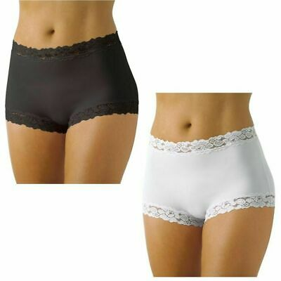 Womens Jockey Parisienne Full Brief Underwear Black White Plus Size 10-22 Wwlc
