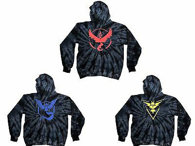 Pokemon Go Team Valor,Mystic,instinc Black Tie Dye Hoodie S6-8-L14-16&S-3XL BEST