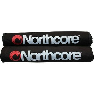Northcore Roof Bar Pads Unisex Surf Gear Surfboard Rack - Black One Size