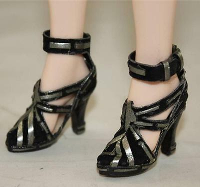 "Tonner/TYLER GENE ""BLACK and SILVER"" CUSTOM  SHOES by EVGENIA SEAGALL...WOW!"