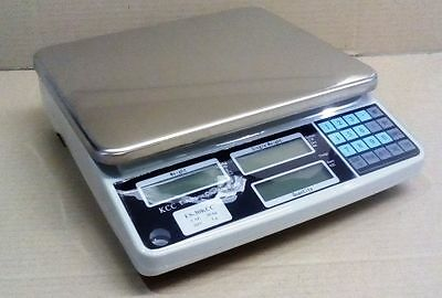 COUNTING SCALES - COMMERCIAL QUALITY H/DUTY UNIT  AUSCOUNT 30KG/1G 12 m warr