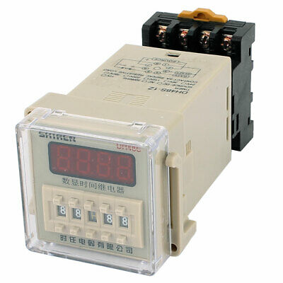 AC/DC110V 11 Terminals 0.01S-9999H LCD Display Time Timer Delay Relay w Socket