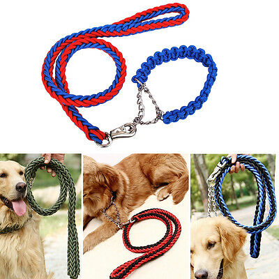 Useful Dog Strong Nylon Lead Leash Pet Adjustable Braid Traction Rope Collars LI