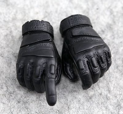 [wamami]1:6 Scale Action Figure Toy Black Gloves Hands Fitting DIY Accessories
