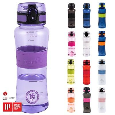 Ion8 Leak Proof Sports Water Bottle, 550ml, Lockable Lid, BPA Free Tritan