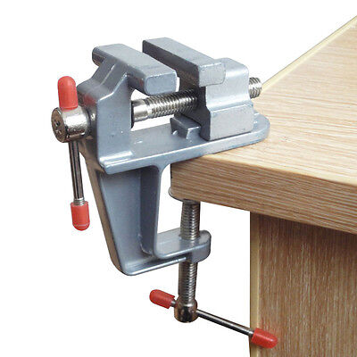 """Durable 3.5"""" Aluminum Mini Jewelers Clamp On Table Bench Vise Vice Tool New"""