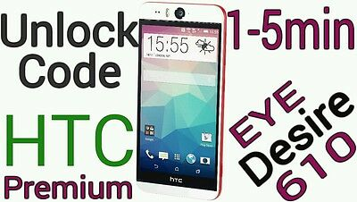 Unlock Code AT&T HTC One M8 A9 HTC Desire EYE 626 610 one M9 M7 1-5minutes