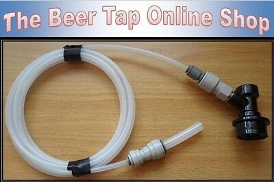 "5/16"" & 3/16"" Beer Line / Pipe + Ball Lock Disconnect for Cornelius / Corny Kegs"
