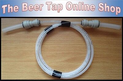 "3/16"" Beer Line & 3/8"" Pipe for Beer Tap & Keg. Will Fit 3/8"" JG or 1/4"" Barb."