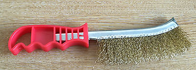 x3 Big Bear Curved Brass Wire Brush Plastic Handle - SNAP UP ON A BARGAIN