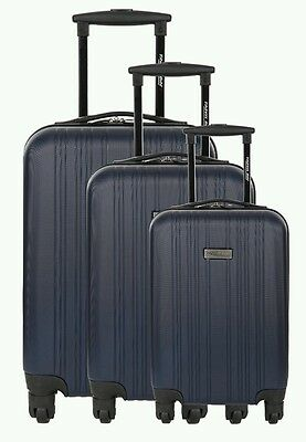 /* Travel One 3 Piece 4 Wheel ABS Luggage Set Cuenca - Navy - New