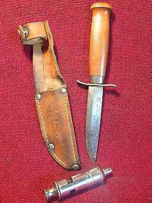 Frosts Mora Scout Jagtmesser Knife Puukko Sweden + Free Acme Scout Whistle
