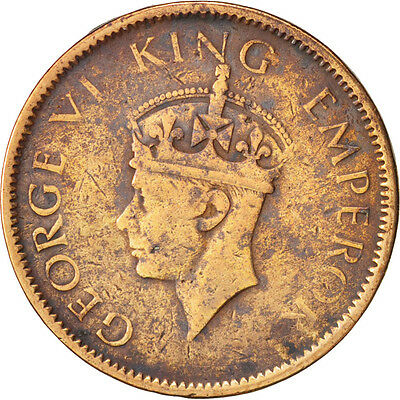 [#79624] INDIA-BRITISH, George VI, 1/4 Anna, 1942, VF(30-35), Bronze, KM:531