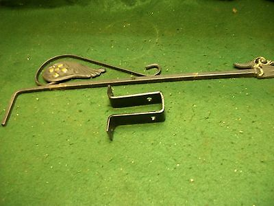 Lonely- Old-Vintage-Antique--Cast Metal Swing  A Way Drapery/curtain Rod.
