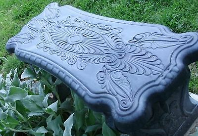 Concrete Cement Bench Mold  Greek Scroll bench Top
