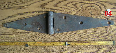 Old Antique Vintage 1 Pc Cast Iron Barn Farm Strap Hinge Made In Usa # 84