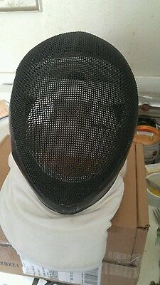 EUC negrini fencing face mask Black Exterior SZ Medium Velcro Adjustments