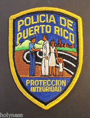 Small Vintage Puerto Rico Police Embroidered Patch