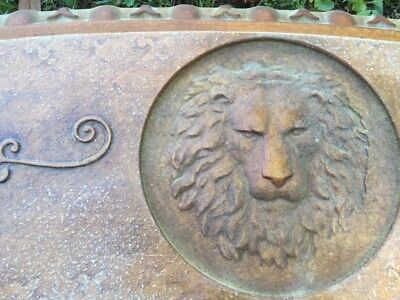 Concrete Bench Mold Full Size Curved Lion Head Bench top Mold with Scroll design