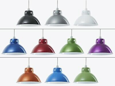 Funky Modern Metal Retro Ceiling Pendant Light Shade Cafe Lamp Bar Vintage Style