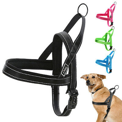 Reflective Nylon Easy Walk Dog Harness No Pull Quick Fit for Dogs XXS XS S M L