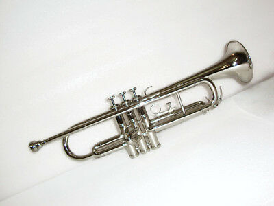 **BAND DIRECTOR CHOICE! New Silver Bb FLAT Trumpet With Free Case+Mouthpiece
