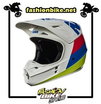 Motocross Enduro Casco Shift White Tarmac White Yellow 2017 Taglia M