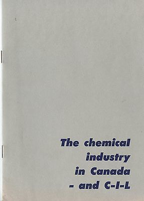 Old 1950's Booklet Chemical Industry in Canada and CIL