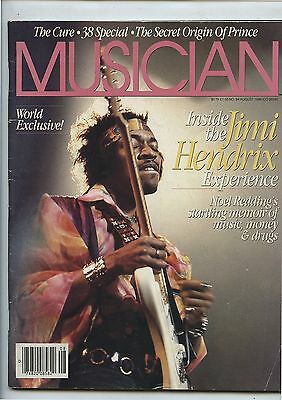 Old August 1986 Musician Magazine Jimi Hendrix on Cover Prince Article