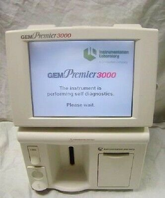 Gem Premier 3000 Blood Gas Electrolyte Analyzer 5700 With New Cartridge