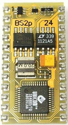 Parallax BS2p IC, BASIC STAMP 24 Pin, Microcontroller Electronics Project Atom