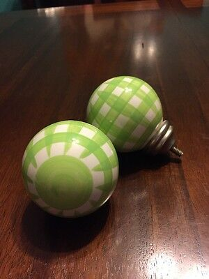Drawer Knobs Pulls Ceramic Green And White