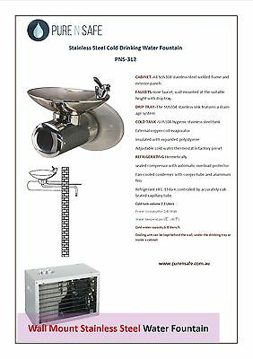 PURE N SAFE Wall Mount Instant Water Chiller Bubbler fountain, PNS-315
