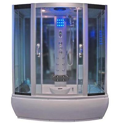 Thermostatic Steam Shower Whirlpool Jacuzzi Bath Cubicle Glass Screen Enclosure