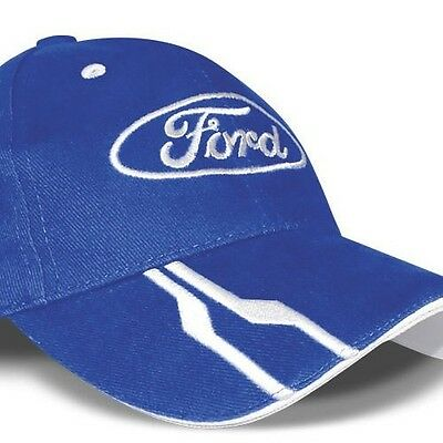 Unisex Cotton Cap Baseball Genuine Ford Logo Official Collection Blue Licensed