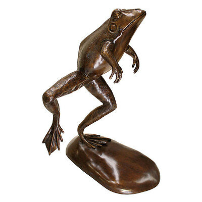 Design Toscano Exclusive Giant Leaping Spitting Frog Cast Bronze Garden Statue