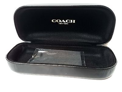 New Authentic COACH EYEGLASSES Sunglasses large case/ pouch with cleaning cloth
