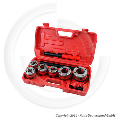 8 Pcs. Plumbers Threading Tools Kit For Pipes