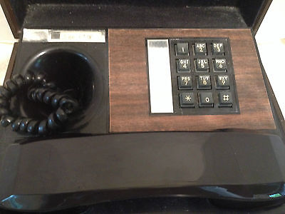 Vintage Touch-Tone Phone in Wood and Leather Chest