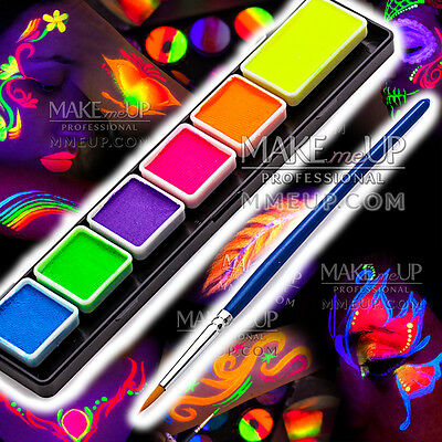 Face paint UV Neon fluorescent palette water color painting body art party glow