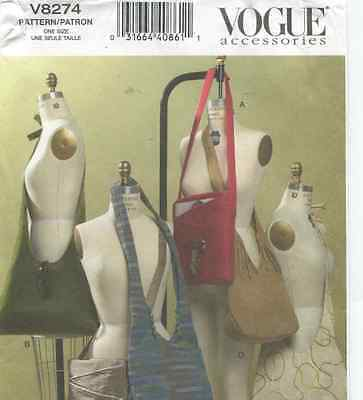 Vogue V8274 Accessory Pattern with Four Styles of Bags - New and Uncut